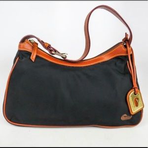 Dooney and Bourke black nylon shoulder bag